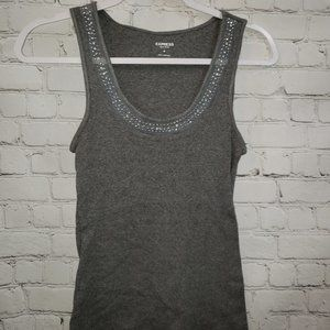 Express Ladies Gray Bling Tank Top